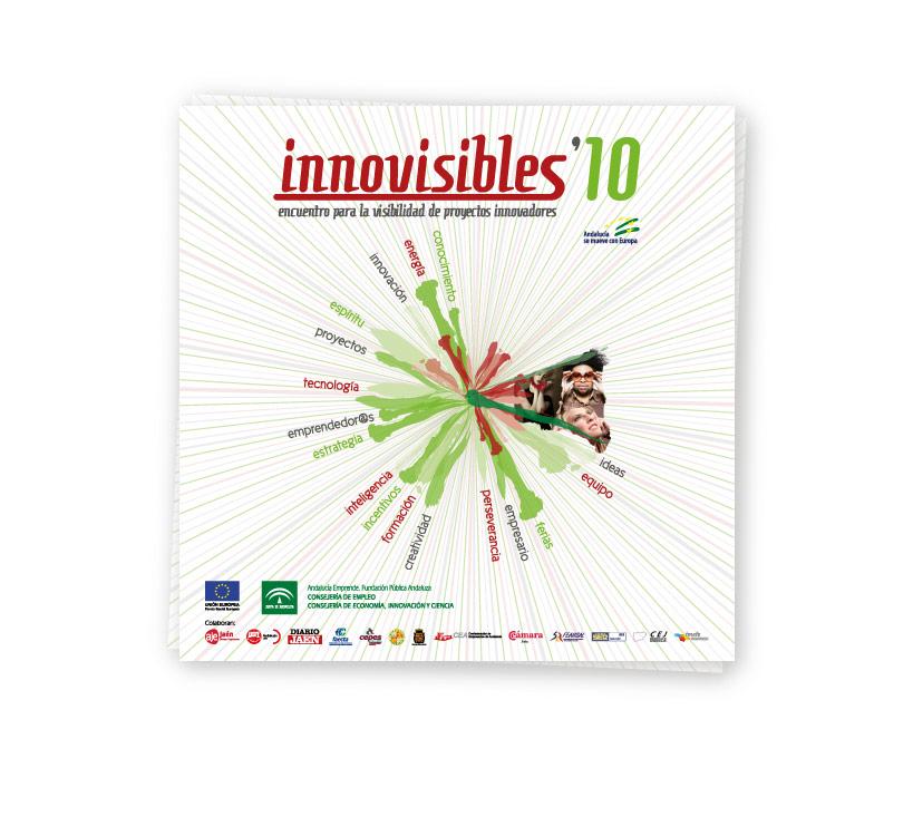 Diseño de expositor para el Encuentro de Proyectos Innovadores que cada año se celebra en la provincia de Jaén, Innovisibles 2010 y organizado por el Centro de Apoyo al Desarrollo Empresarial (CADE)