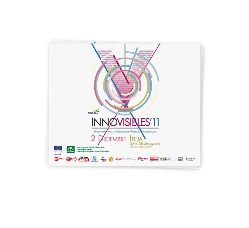 Diseño de expositor para el Encuentro de Proyectos Innovadores que cada año se celebra en la provincia de Jaén, Innovisibles 2011 y organizado por el Centro de Apoyo al Desarrollo Empresarial (CADE)