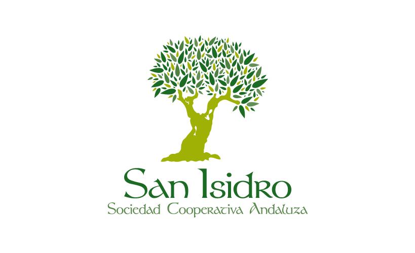 Diseño de identidad corporativa de San Isidro S.C.A., sociedad cooperativa andaluza de aceite de oliva virgen y virgen extra.