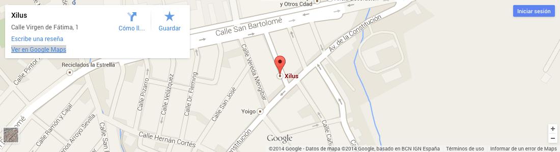 Mapa de localización de Xilus