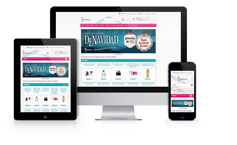 Diseño a medida y maquetación basada en gestor de tiendas online para ecommerce de la tienda virtual Tenlotodo.